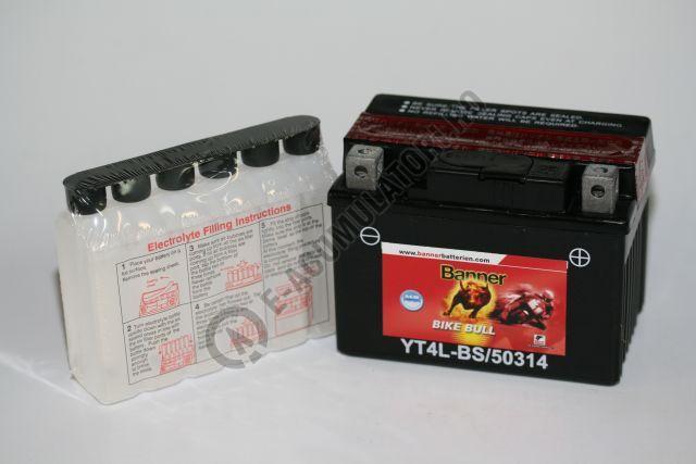 Baterie MOTO BANNER BIKE BULL AGM 12V 3 Ah YTX4L-BS cod 503 14-big