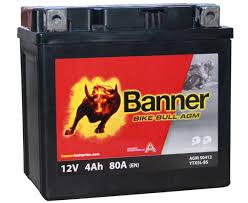 Baterie MOTO BANNER BIKE BULL AGM 12V 4 Ah YTX5L-BS cod 504 12-big