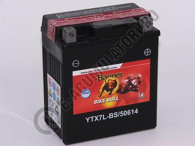 Baterie MOTO BANNER BIKE BULL AGM 12V 6 Ah YTX7L-BS cod 506 14-big
