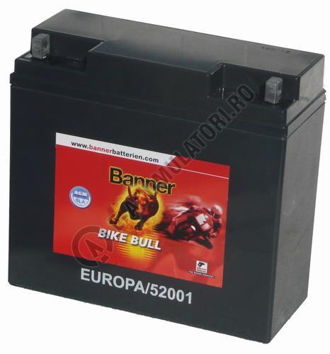 Baterie MOTO BANNER BIKE BULL AGM+SLA 12V 20 Ah cod 520 01-big