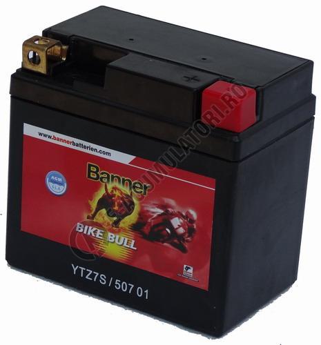 Baterie MOTO BANNER BIKE BULL AGM+SLA 12V 7 Ah YTZ7S cod 507 01-big