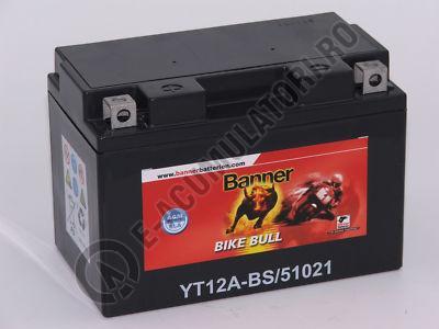 Baterie MOTO BANNER BIKE BULL AGM+SLA borne inverse 12V 10 Ah YTZ12A-BS cod 510 21-big