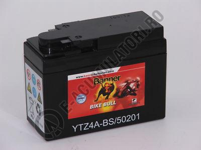 Baterie MOTO BANNER BIKE BULL AGM+SLA borne inverse 12V 2 Ah YTZ4A-BS cod 502 01-big