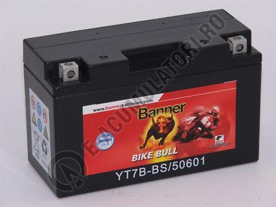 Baterie MOTO BANNER BIKE BULL AGM+SLA borne inverse 12V 6 Ah YT7B-BS cod 506 01-big