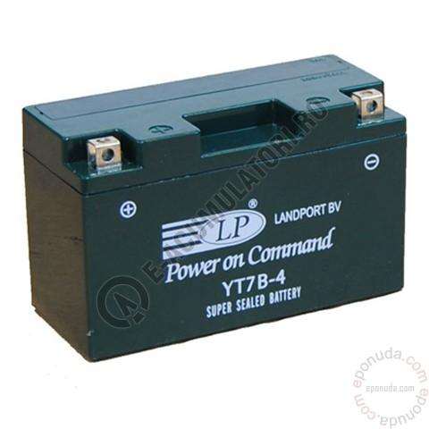 Baterie MOTO LANDPORT AGM 12 V 6.5 Ah borne inverse YT7B-BS-big