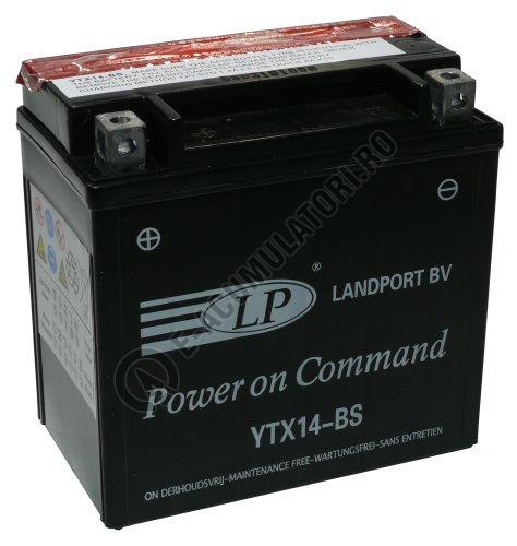 Baterie MOTO LANDPORT AGM 12V 12 Ah borne inverse YTX14-BS-big