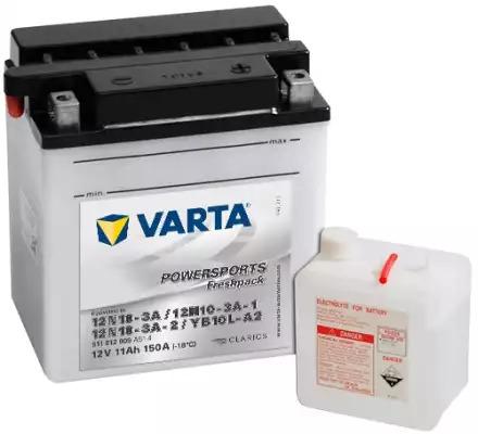 BATERIE MOTO VARTA cu acid 12 V 11 Ah 12N10-3A / 12N10-3A-1 12N10-3A-2 / YB10L-A2 cod 511012009A514-big