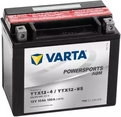 BATERIE MOTO VARTA cu AGM 12 V 10 Ah borne inverse YTX12-BS cod 510012009A514-big