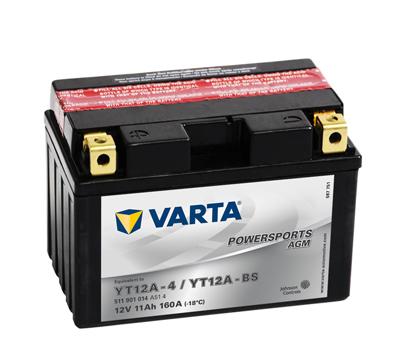 BATERIE MOTO VARTA cu AGM 12 V 11 Ah YT12A-BS borne inverse 511901014A104-big