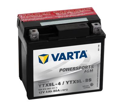 BATERIE MOTO VARTA cu AGM 12 V 4 Ah YTX5L-BS cod 504012003A514-big