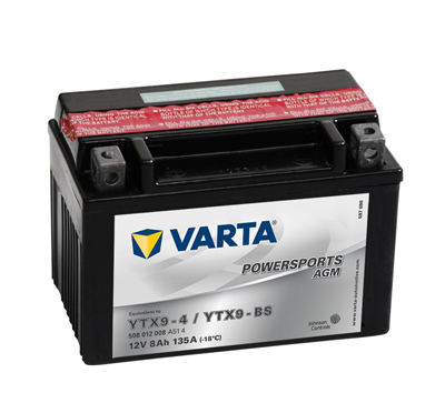 BATERIE MOTO VARTA cu AGM 12 V 8 Ah YTX9-BS borne inverse cod 508012008A514-big