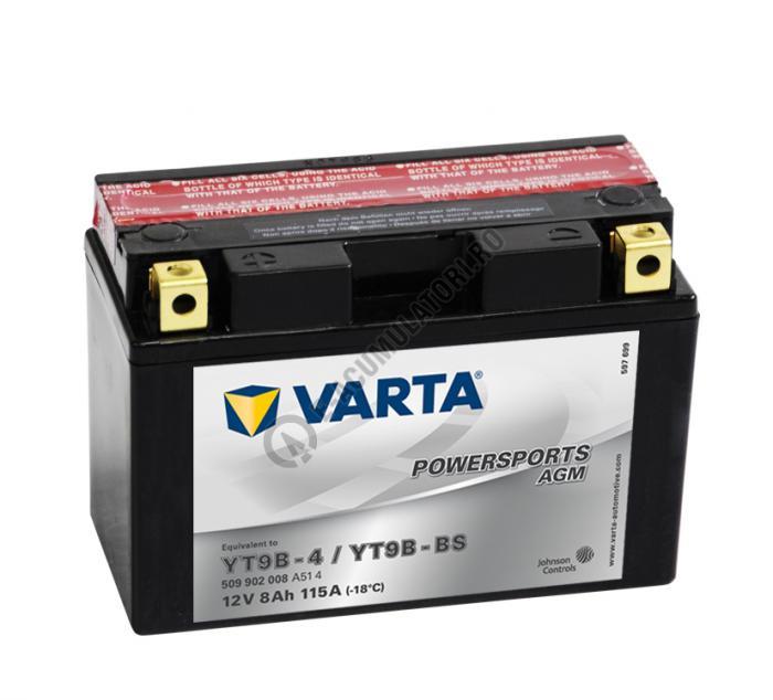 BATERIE MOTO VARTA cu AGM 12 V 9 Ah YT9B-BS borne inverse cod 509902008A514-big