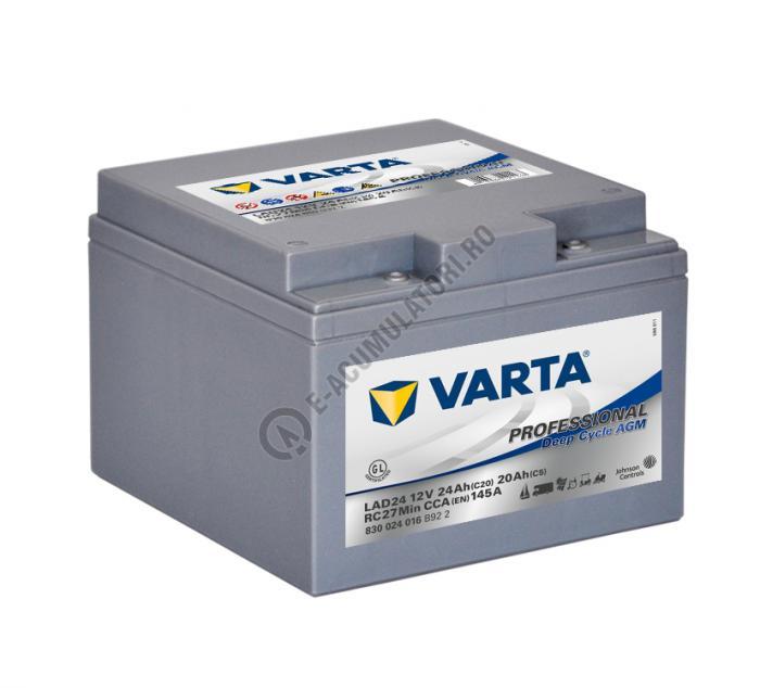 Baterie Varta Professional DC AGM LAD24 12 V 24 Ah cod 830024016B922-big