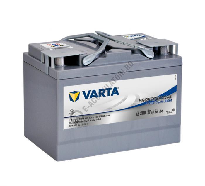 Baterie Varta Professional DC AGM LAD60 12 V 60 Ah cod 830060037B922-big