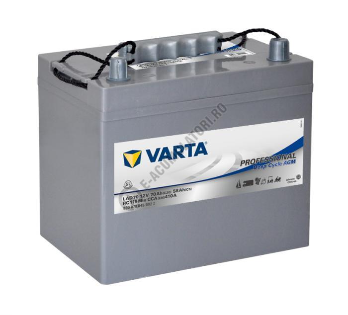 Baterie Varta Professional DC AGM LAD70 12 V 70 Ah cod 830070045B922-big