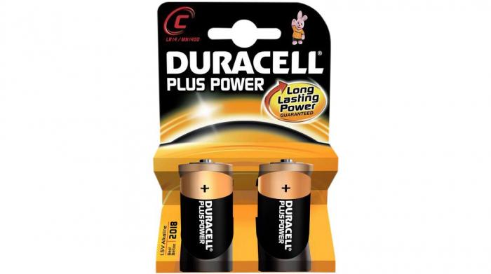 Baterii alcaline Duracell Plus MN1400, C,R14, blister de 2 buc-big