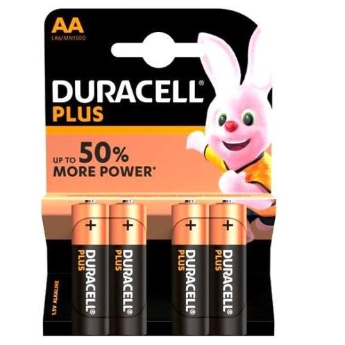 Baterii alcaline Duracell Plus POWER MN1500 LR6 AA blister de 4 buc-big