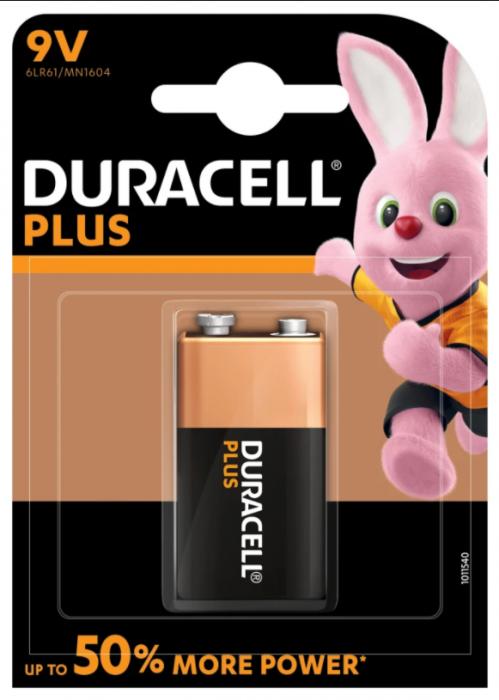 Baterii alcaline Duracell Plus POWER MN1604 9V blister 1buc-big