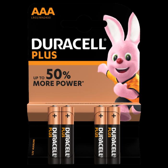 Baterii alcaline Duracell Plus POWER MN2400 LR03 AAA blister 4 buc-big