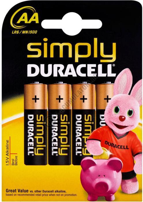 Baterie alcalina Duracell Simply AA MN 1500 bl 4 buc-big