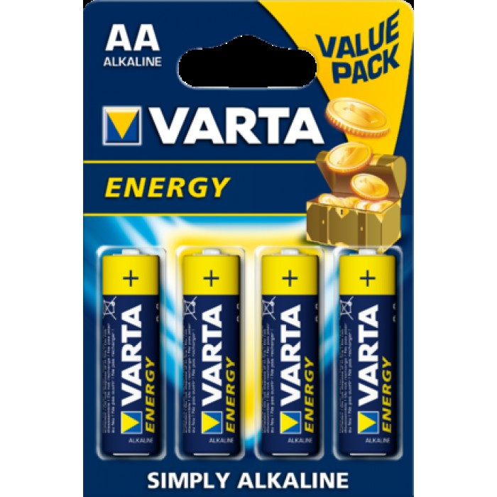 Baterii alcaline Varta Energy AA blister 4 buc-big