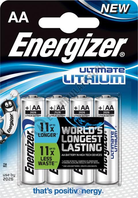 Baterii Energizer ultimate lithium L91 AA blister 4 buc-big