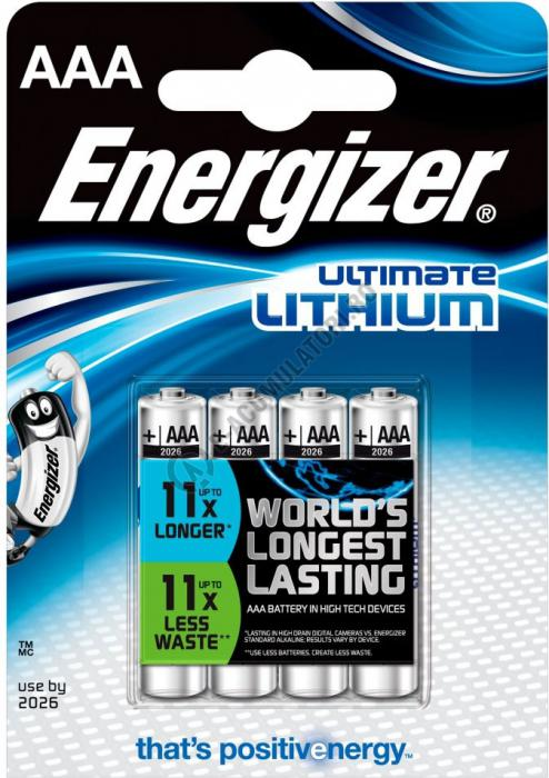 Baterii Energizer Ultimate Lithium L92 AAA blister 4 buc-big