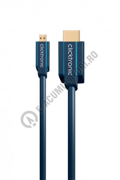 Cablu adaptor High Speed HDMI- micro HDMI Ethernet 1 m Clicktronic cod 70326-big