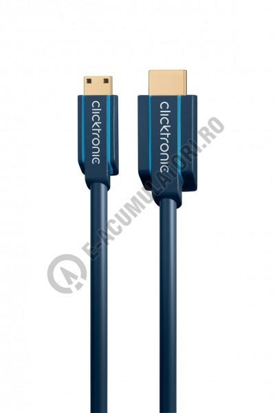 Cablu adaptor High Speed HDMI- mini HDMI Ethernet 1 m Clicktronic cod 70320-big