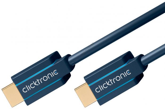 Cablu High Speed HDMI™ cu Ethernet (HDMI A/HDMI A) pentru HD si 3D TV Clicktronic 5m cod 70305-big