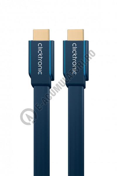 Cablu High Speed HDMI Flat Ethernet (HDMI A/HDMI A) Clicktronic 1m cod 70312-big