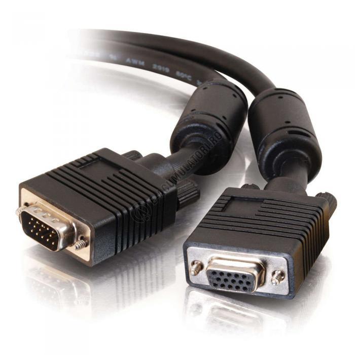Cablu prelungitor monitor C2G Pro Series HD15 UXGA M/F 7m 81017-big