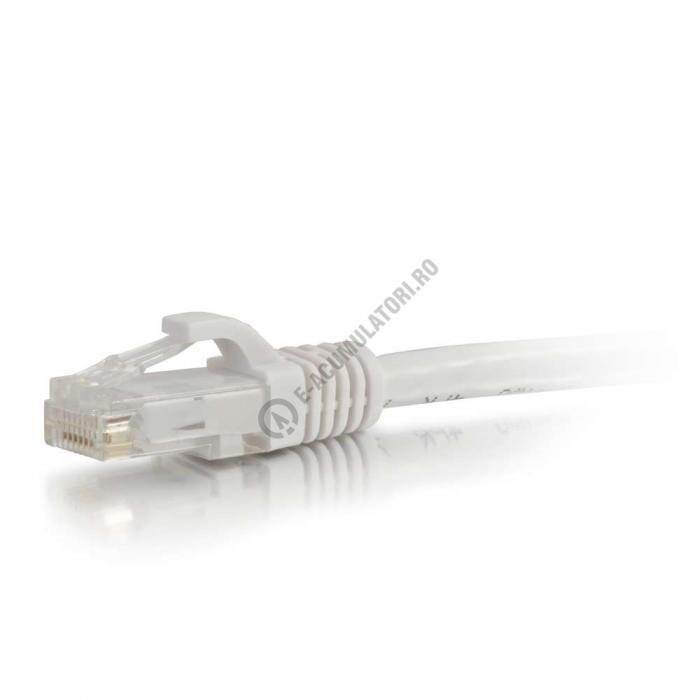 Cablu retea UTP CAT6 Booted Unshielded C2G 15m white 83493-big