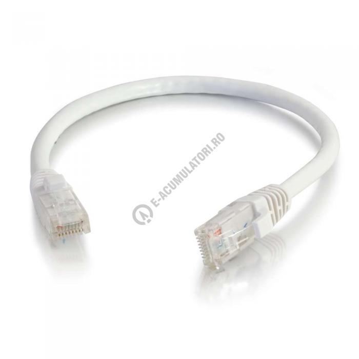 Cablu retea UTP CAT6 Booted Unshielded C2G 20m white 83494-big