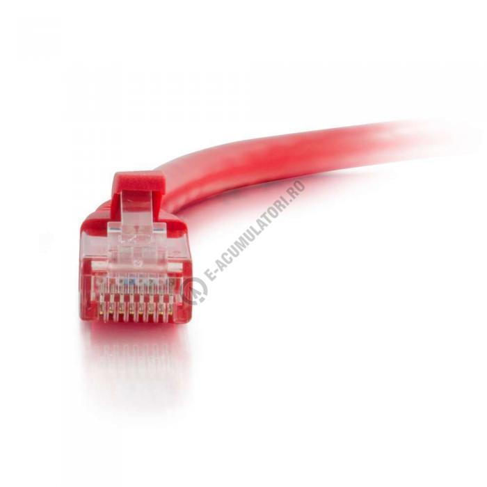 Cablu retea UTP CAT6 Booted Unshielded C2G 7m red 83451-big