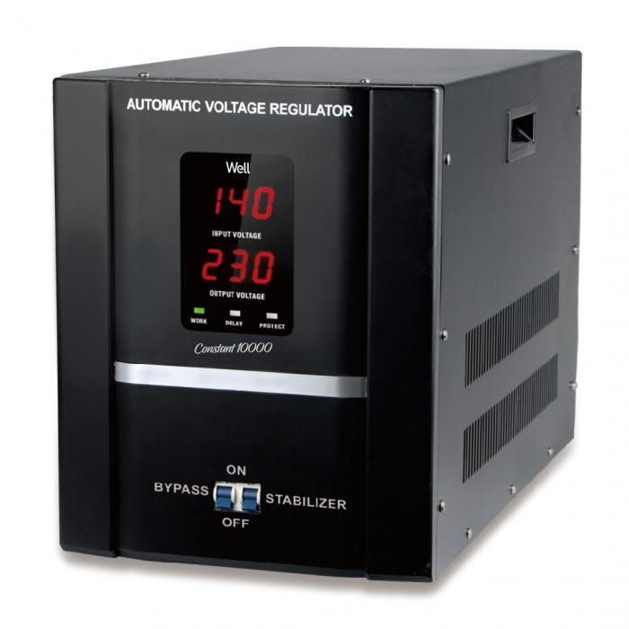 Stabilizator automat de tensiune cu servomotor Well 10000VA/6000W AVR-SRV-CONSTANT10000-WL-big