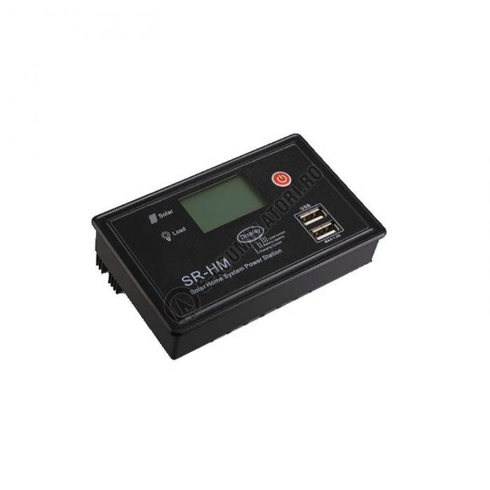Controller solar mini Powersave 12/24V LCD display SR-HM-CU20A-big