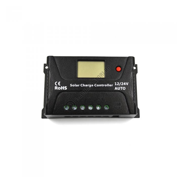 Controller solar Powersave PWM 20A 12/24V USB output SR-HP2420-S-big