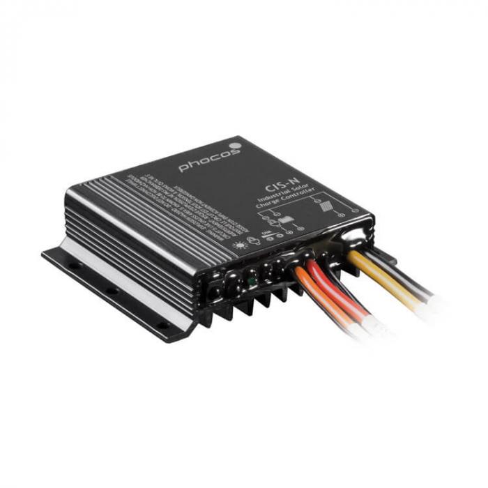 Controlor industrial incarcare solara Phocos CIS, negativ grounding, 12/24V, 20/20/20 A, IP68, dual load, cod CIS-N-20-1.0-2L-big