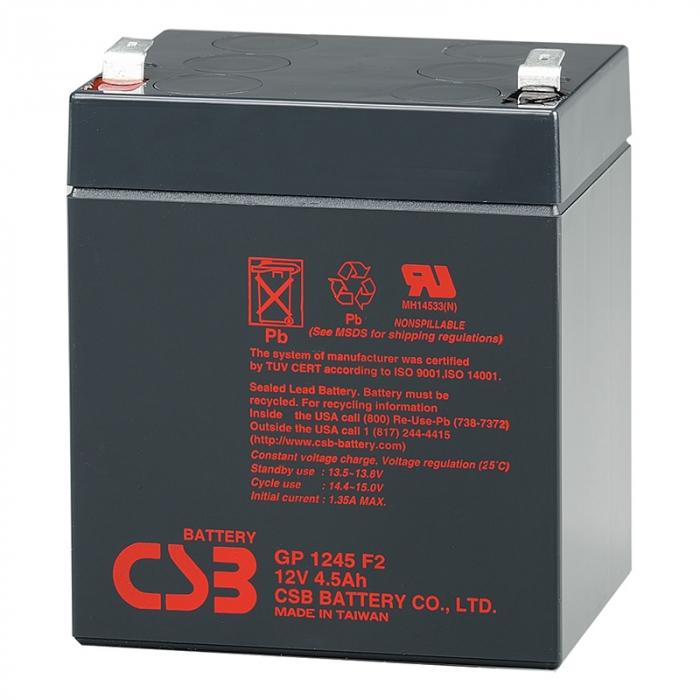 Acumulator VRLA CSB 12V 4.5Ah GP1245-big