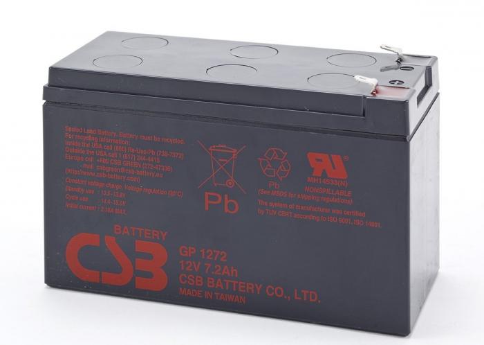 Acumulator VRLA CSB 12V 7.2Ah 28W/Cell GP1272 F2-big