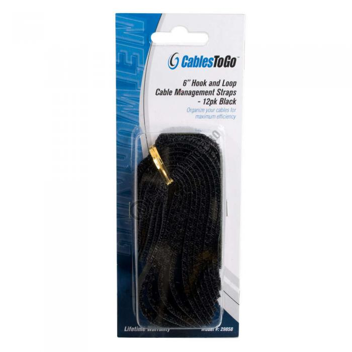 Curea prindere cabluri C2G 12buc 150mm 88131-big