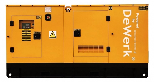 Generator curent electric (grup electrogen) DeWerk Rezidential ESE 150 DWR 150kVA diesel trifazat carcasa inclusa-big