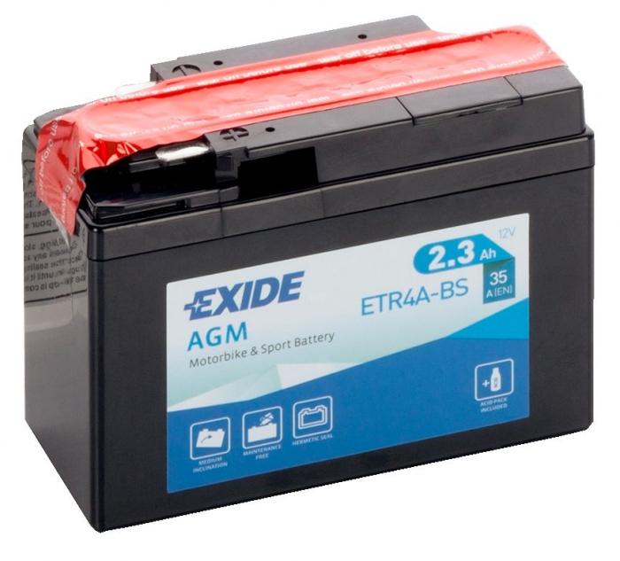 Acumulator Moto Exide cu AGM 12V 2.3 Ah YTR4A-BS-big