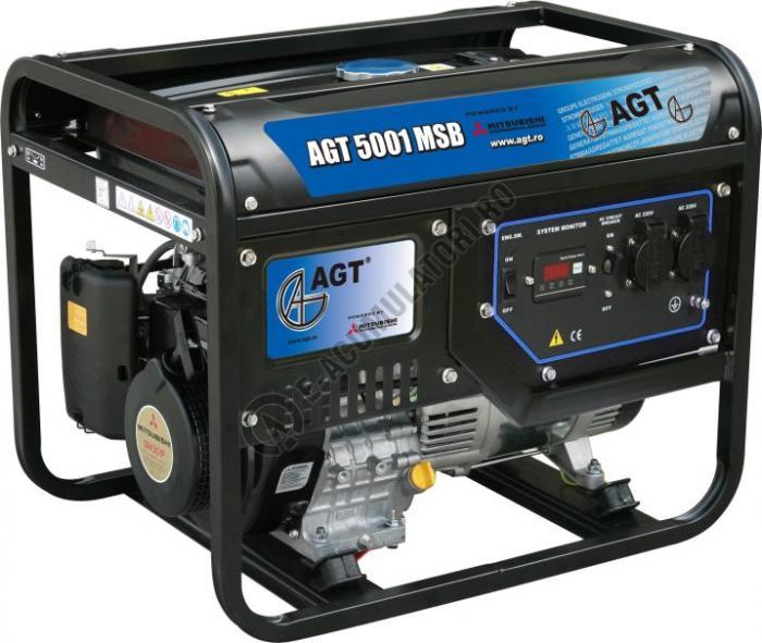 Generator monofazat AGT 5001 MSB echipat cu motor Mitsubishi-big