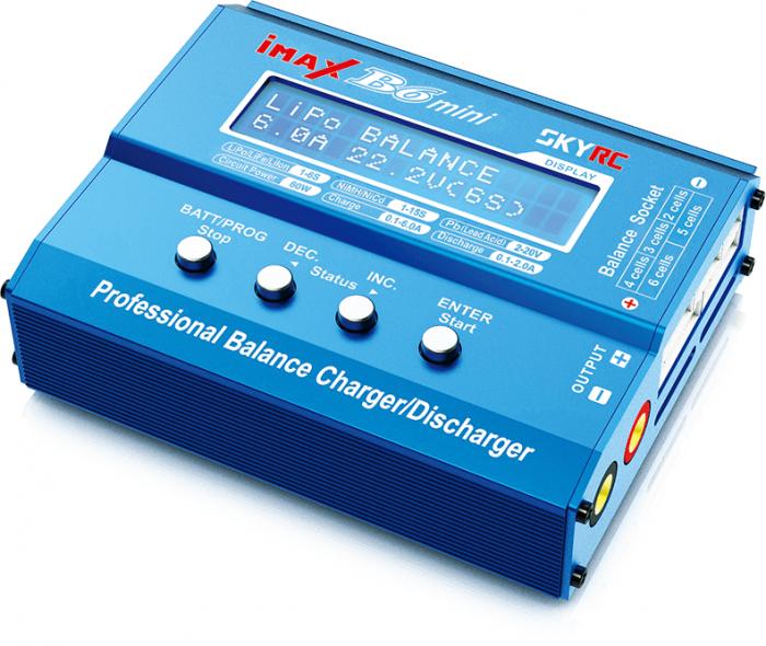 Incarcator profesional iMAX B6 Mini Charger cu microprocesor, pentru acumulatori LiIon, LiPo, LiFe,NiMH, Pb-big