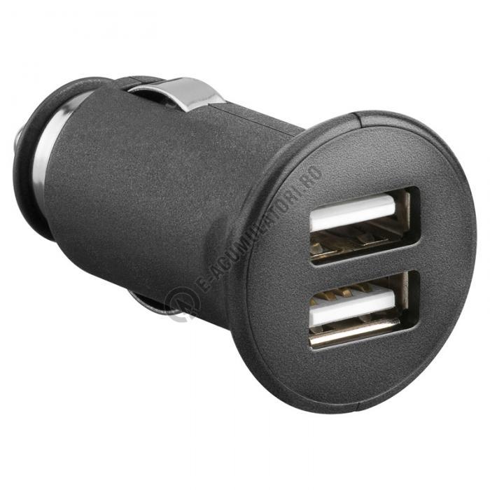 Incarcator auto dual USB 2,1 A Goobay 43184-big