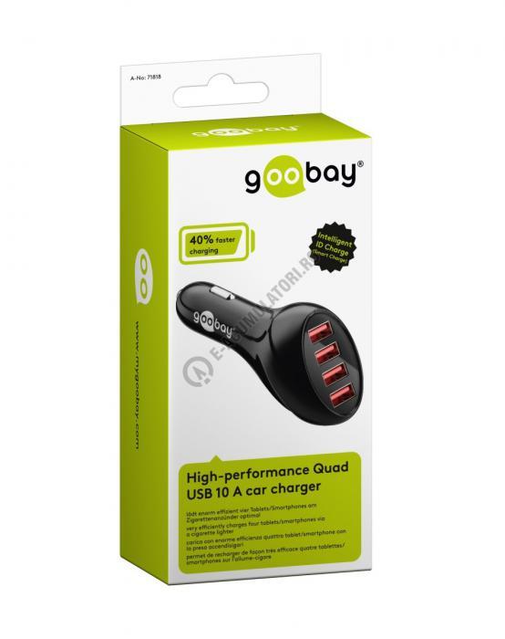 Incarcator auto Goobay High-performance Quad USB 10 A cod 71818-big