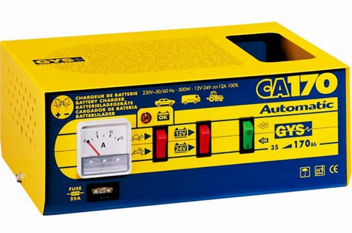 Incarcator si redresor PROFESIONAL automat 6/12V GYS CA 170-big