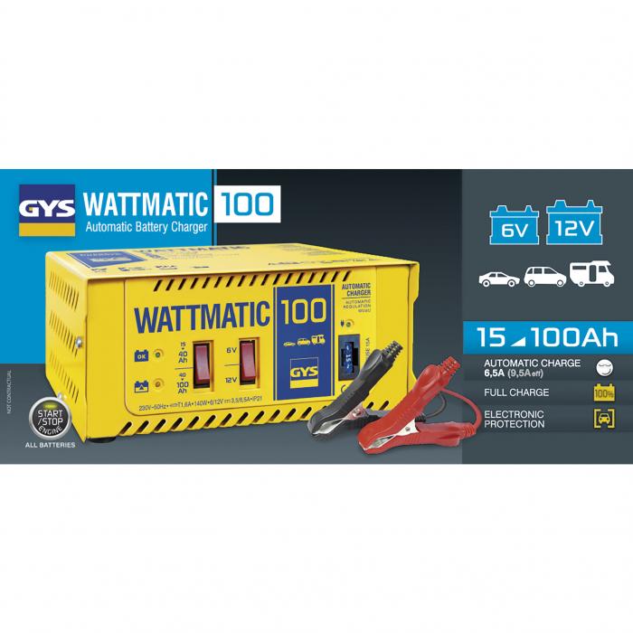 Incarcator si redresor profesional automat 6/12V GYS WATTMATIC 100 024823-big